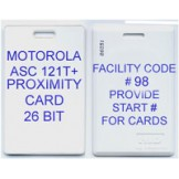 INDALA ASC 121T+ Lifetime Proximity Card - 100 pack