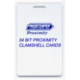 Clamshell Style 34 Bit Proximity Card  - 100 pack