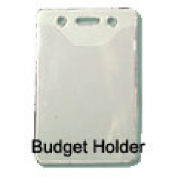 Budget Scoop Front Clear Vertical Holder - 100 pack