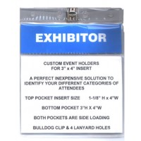 "Badge Holder CUSTOM Conference 3"" X 4""  - 100 pack"