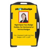 Rigid Plastic Dual Use Open-Face 2-Card Holder 50 pack