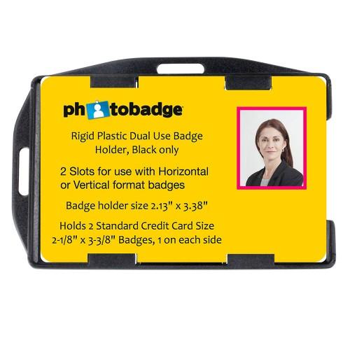 Mrii Safe Rigid Plastic Dual Use Open Face 2 Card Holder