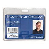 Proximity Card Vinyl Badge Holder-Horizontal - 100 pack