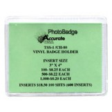 "Vinyl 3""x 4"" Conference Badge Holder - 100 pack"