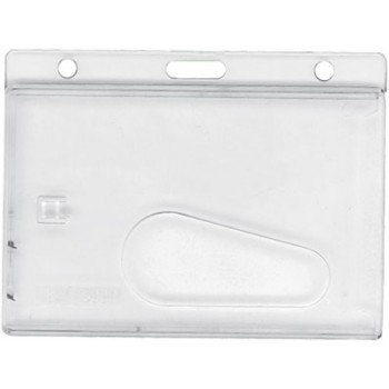 Frosted Rigid Plastic Dispenser Vertical -w/Slot - 100 pack
