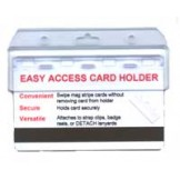 Rigid Frosted Half Card Holder - 20 pack
