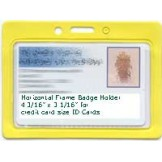 Color Frame Badge Holders Horizontal - 100 Pack