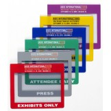 Color Frame Imprinted Badge Holders Horizontal - 1,000 Pack