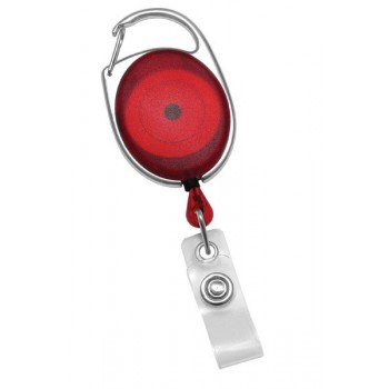 Badge Reel Carabiner Style Translucent - 10 pack