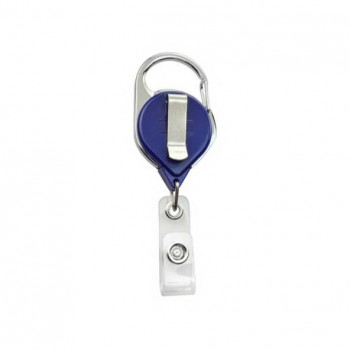 Badge Reel Carabiner Style with Belt Clip - 10 pack