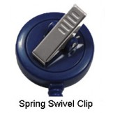 Badge Reel-Swivel Clip - 10 pack