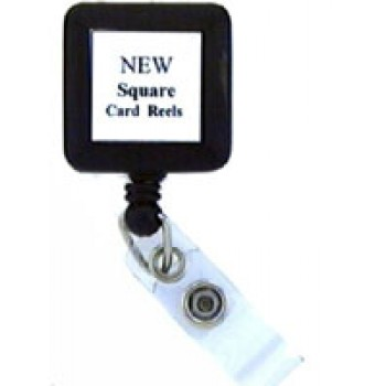 Badge Reel Square-w/belt Clip - 10 Pack
