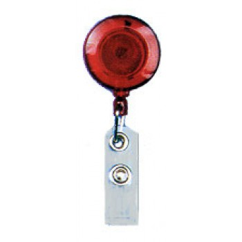 Translucent Color Badge Reel Swivel Spring Clip - 10 Pack