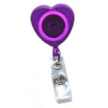 Translucent Heart Badge reel - 10 pack
