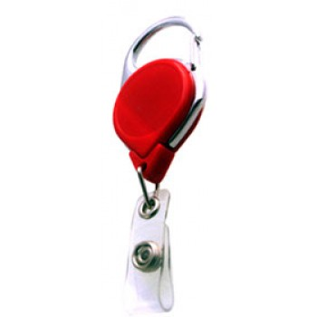Badge Reel Carabiner Style Solid Color - 10 pack