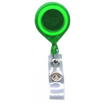 Translucent Round Badge Reel - 10 pack