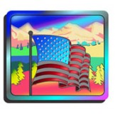 Holographic Sticker FLAG - 1,000 PACK