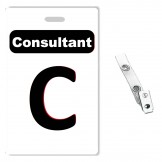 Custom Printed PVC Consultant Badges - 10 pack