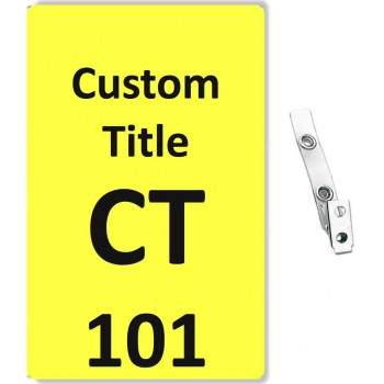 Custom Printed Numbered PVC Badges + Strap Clips - 10 pack