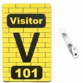 Custom Printed Numbered Subway PVC Badges + Strap Clips - 50 pack