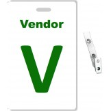 Custom Printed PVC Vendor Badges + Strap Clips - 10 pack