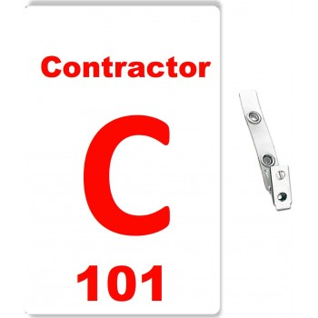 Custom Printed Numbered PVC Contractor Badges - 10 pack