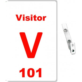 Custom Printed Numbered PVC Visitor Badges - 10 pack