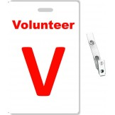 Custom Printed PVC Volunteer Badges + Strap Clips - 10 pack