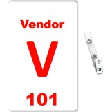 Card Stock Vendor Badge - 100 Pack