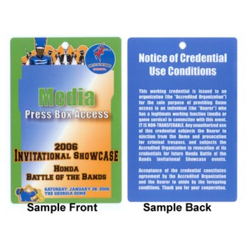 Event Credentials Custom Printed- 500 pack