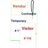 PVC Printed Badges + Lanyard - 100 pack