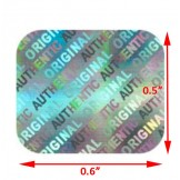 Small Holographic Sticker Rectangle Authentic- 1,000 PACK