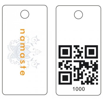Custom Printed Membership QR Key Tags 500 pack, Re Order only