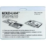 Kold Lam ID Badge w/slot 12 mil - 500 box