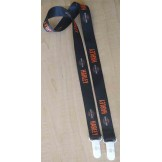 "Silk Screen 1"" Lanyard with 2 White Plastic Clips"