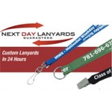 Lanyards Custom Imprinted Next Day - 100 pack