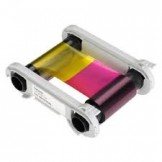 Evolis R5H004NAA Primacy Half Panel Color Ribbon - YMCKO 400 prints