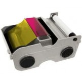 Fargo 45000 DTC 1000, 1250, 1250e YMCKO Cartridge color ribbon with resin black and clear overlay panel – 250 images