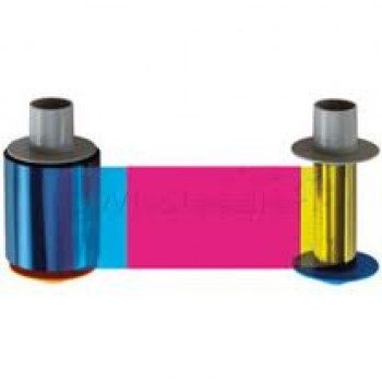 Fargo 84057 HDP 5000 YMCKI:  Full-color ribbon with resin black and inhibitor panels