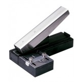 Stapler Style Slot Punch with Receptacle & Guide