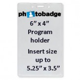 "Vinyl Top Load 4"" x 6"" Program Holder - 100 pack"
