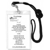 "Vinyl Top Load 4"" x 6"" Program Holder + Lanyard  - 100 Pack"